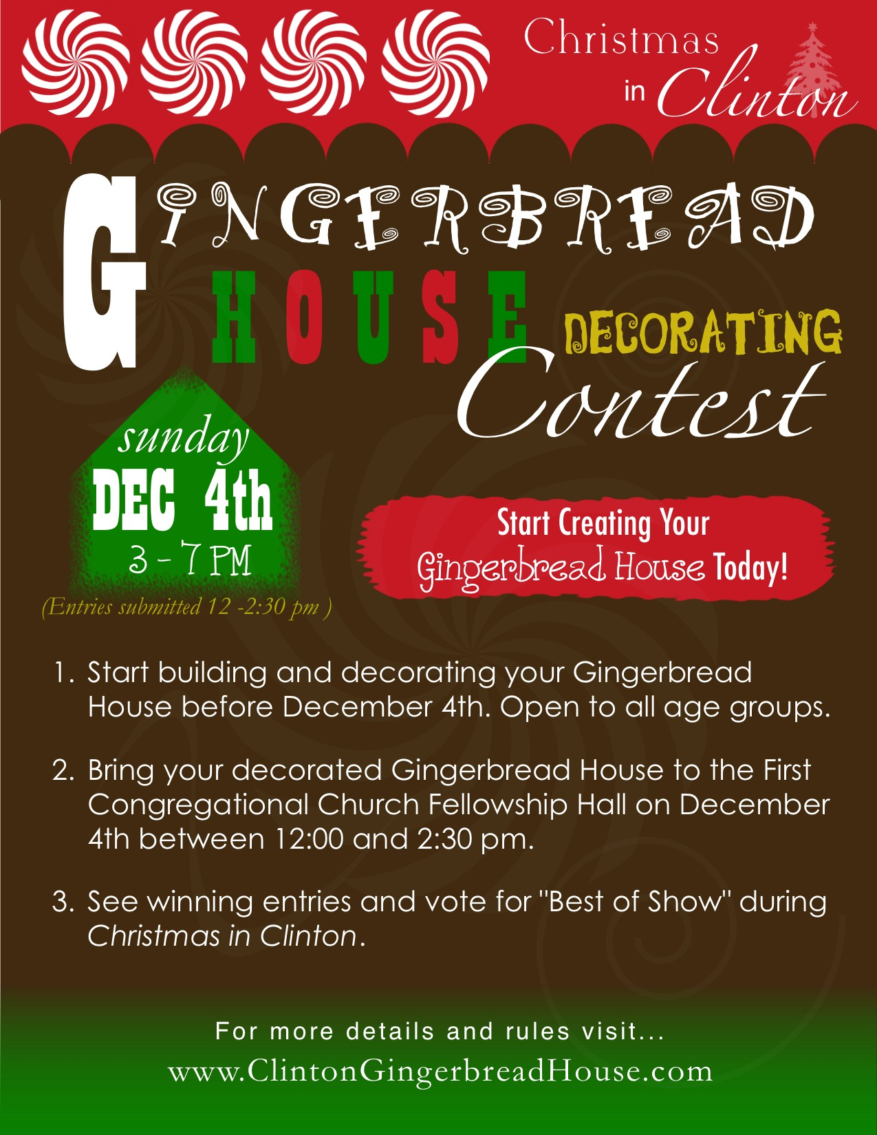 2011 first annual gingerbread decorating contest for Facebook photo contest rules template